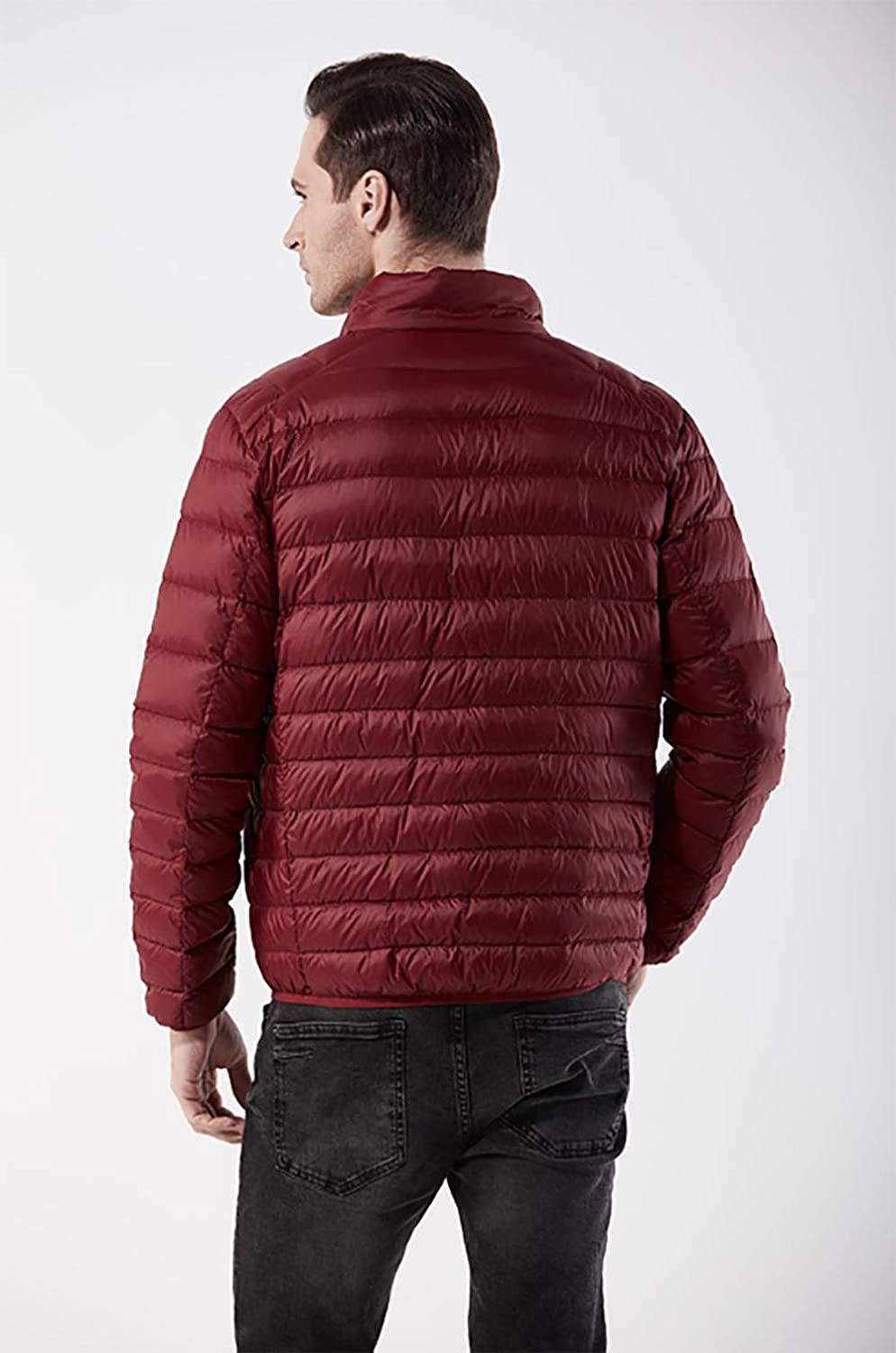 Haolong Ultra-Thin Solid Color Down Jacket Short Paragraph Casual Light Down Jacket for Men