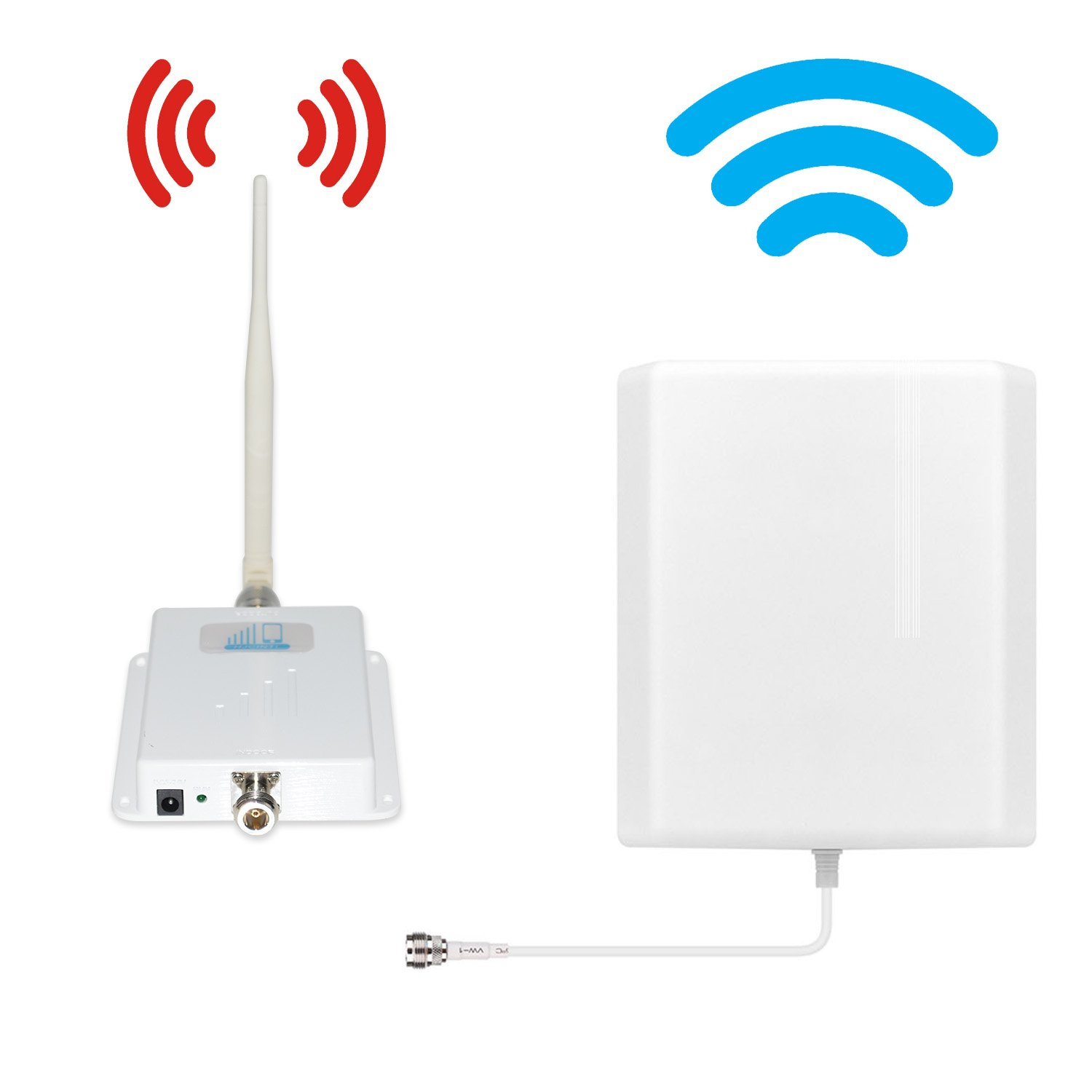 ATT T-Mobile Cell Phone Signal Booster 4G LTE Cell Signal Booster HJCINTL 700MHz Band 12/17 FDD Home Mobile Phone Signal Booster Amplifier Cover- 2500sq ft