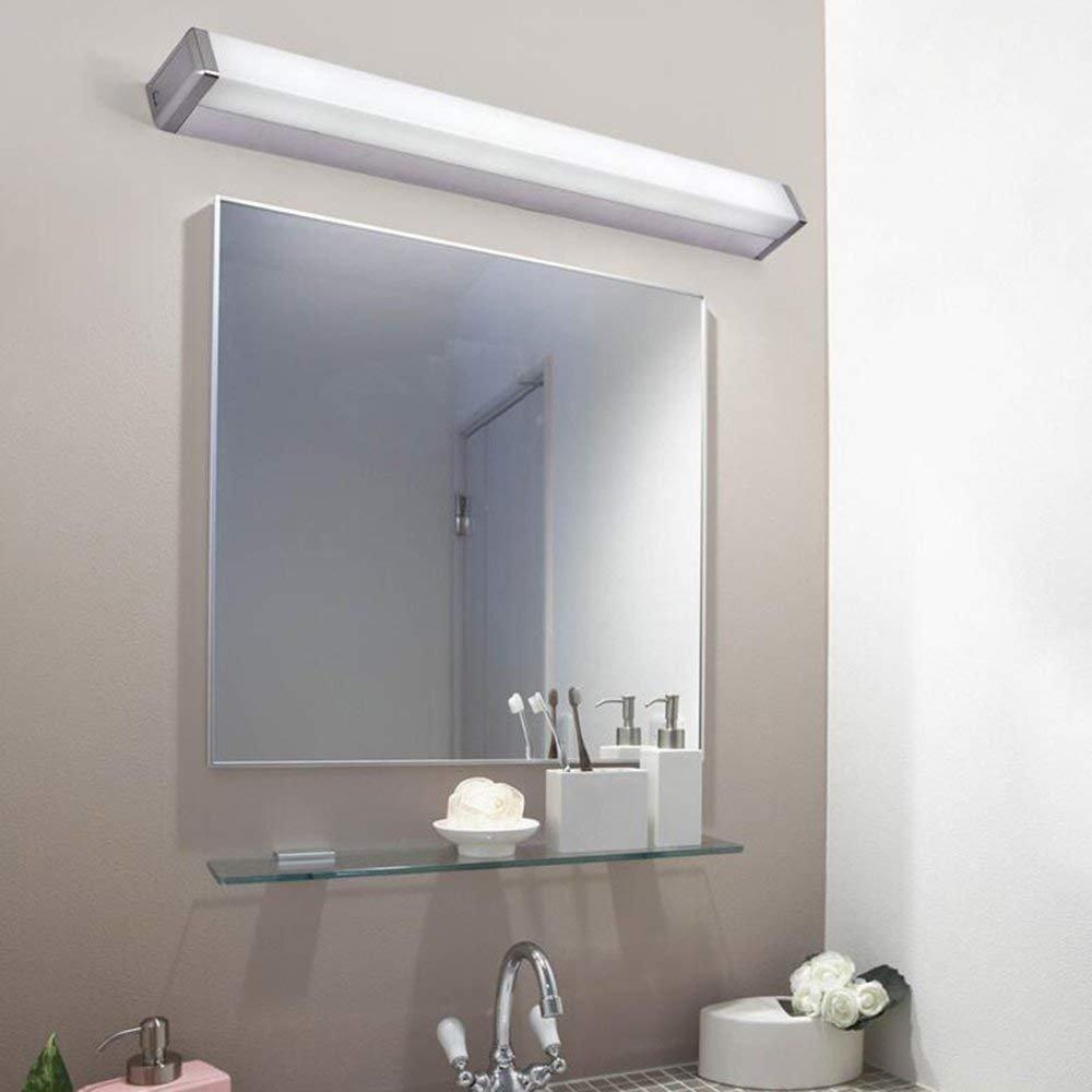JQD Hauptbadezimmer-Spiegel-Scheinwerfer führte Spiegel-Vorderes Licht-einfaches modernes Anti-Fog Rost-Spiegel-Badezimmer-Badezimmer-Wand-Lampen-Spiegel-Kabinett-Verfassungs-Glühlampe eingeschlossen
