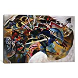 Museum quality Painting with White Border by Wassily Kandinsky Canvas Print. Out of passion for art, iCanvas handcrafts the highest quality giclee art prints, using only premium materials. The art piece comes gallery wrapped, ready for wall hanging w...