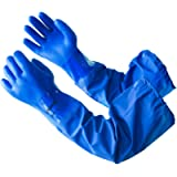 LANON Protection Oil Resistant Work Gloves Reusable Fishing, Non-slip, Anti-aging, Latex Free, Textured, CAT III (Long…