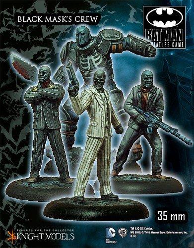 nero Mask girocollo, linea Miniatures, gioco di Batman