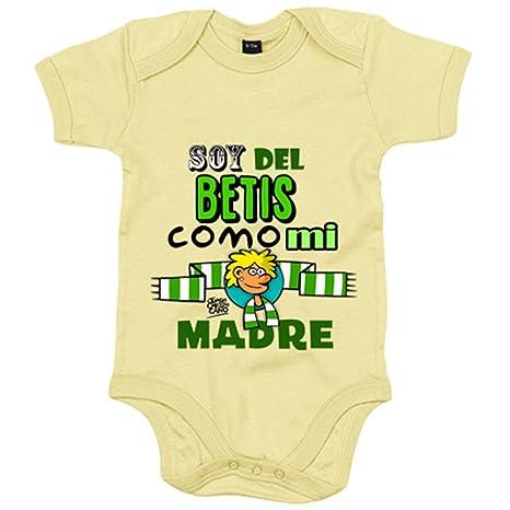 Body bebé Real Betis soy del Betis como mi madre - Amarillo ...