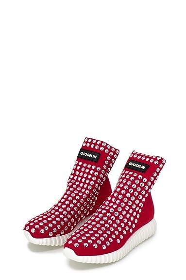 Gioselin Scarpe Donna Sneakers Borchie Light Studs Color  Amazon.it  Scarpe  e borse 7b4e9ef2c07