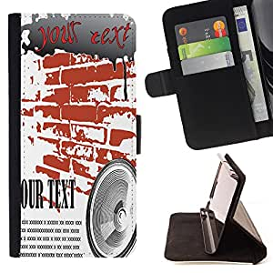 King Case - FOR Samsung Galaxy S4 Mini i9190 - Try it one more time - Prima caja de la PU billetera de cuero con ranuras para tarjetas, efectivo Compartimiento desmontable y correa para la mu?eca
