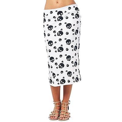 ALERDON PU Leather High Waist Back Zipper Bodycon Pencil Skirt ...
