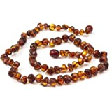 Momma Goose 18 Inch Adult Amber Necklace (Rounded Baroque, Cognac)