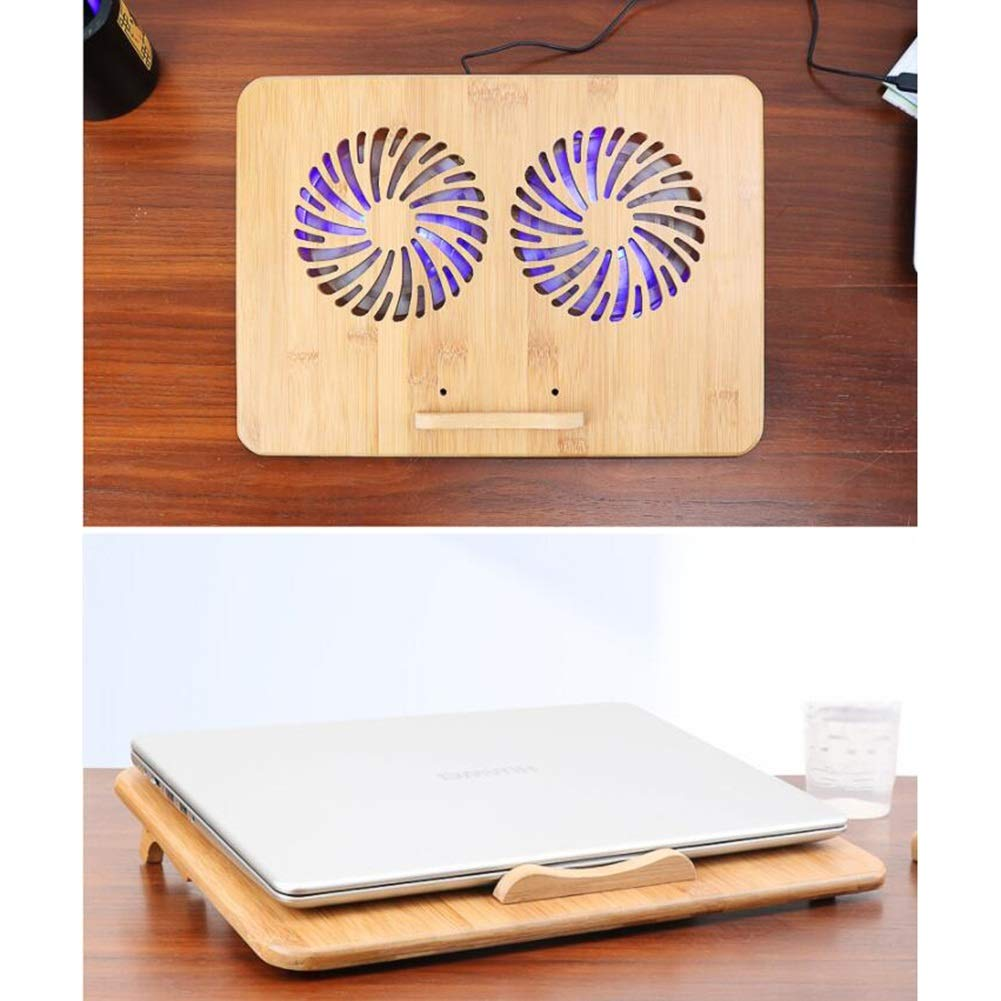 Ho,ney Wooden Laptop Radiator - Folding Portable Dual USB Baffle Adjustment, 2 Variable Heights for 17'' -1053 Notebook Cooler by Ho,ney (Image #8)
