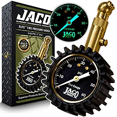 JACO Elite Tire Pressure Gauge - 60 PSI: Automotive
