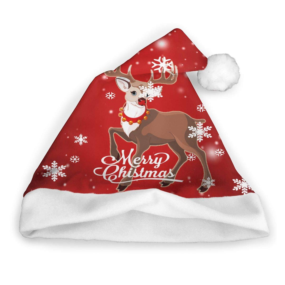 989b1e0870883 Santa Hat Printed Rudolph The Red-Nosed Reindeer Christmas Holiday Christmas  Caps Winter Hat Xmas Hats for Kids and Adult at Amazon Men s Clothing store