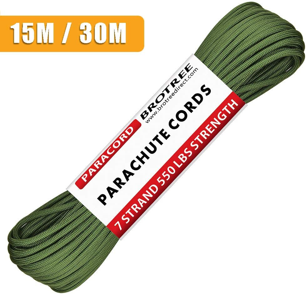 Standard, Reflective Brotree 3mm Paracord 3 Strands Nylon Parachute Cord