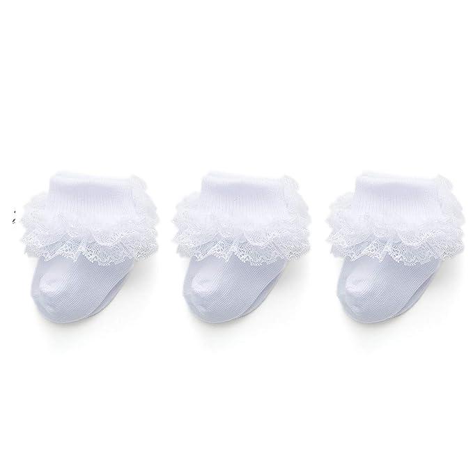 Amazon.com: Epeius - Calcetines de encaje para recién ...