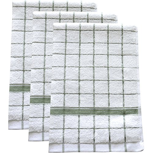 Ultra Absorbent, Quick-Drying Kitchen Dish Towels (Set of 3) | Premium Microfiber & Cotton Blend Hand Towels for Cleaning, Scrubbing, Washing, and Drying | Durable Reinforced Edges | 23