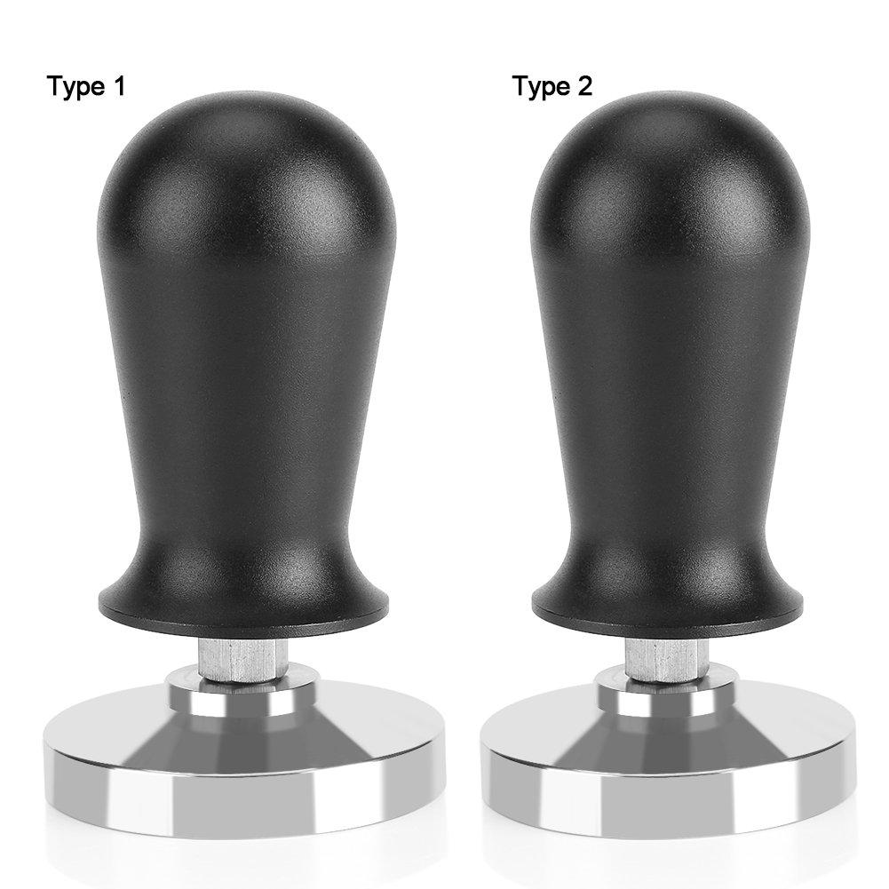 51mm Espresso Tamper,Aramox Stainless Steel Base Rubber Handle Barista Espresso Coffee Tamper Flat Base Coffee Bean Press Tool