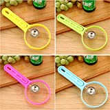 OurLeeme 1 Set Kitchen Fruits Cutter Peeler Spoon Melon Baller Fancy Dig Pulp Tools Random Color