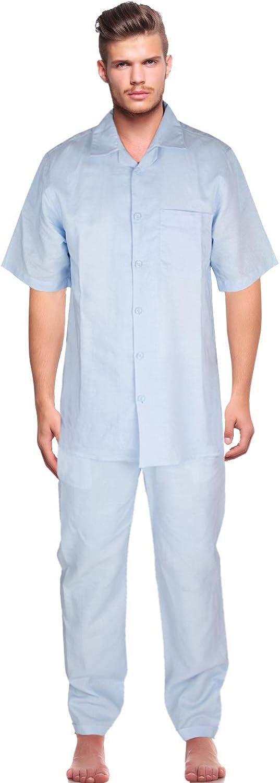 Vittorino New sales Men's Linen Pants and Shirt Set Max 68% OFF Casual Summ Beach