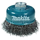 Makita 1 Piece - 3 Inch Crimped Wire Cup Brush For Grinders - Light-Duty Conditioning For Metal - 3'' x 5/8-Inch | 11 UNC