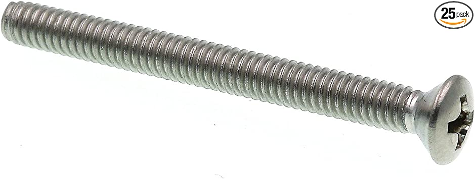 8-32 X 1//2 in Oval Head Phillips Pack of 100 Grade 18-8 Stainless Steel Prime-Line 9010601 Machine Screw