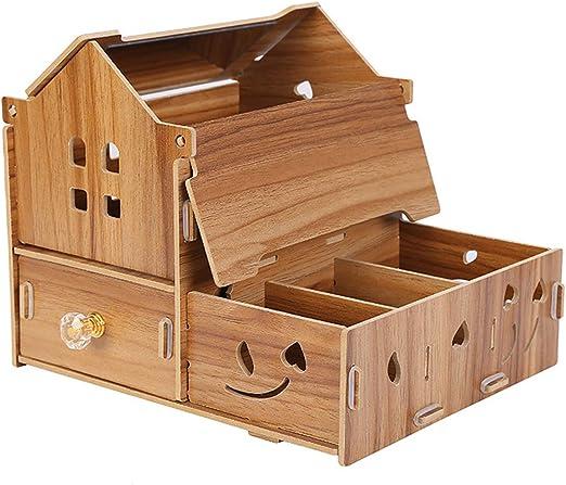 TOPBATHY Caja de Almacenamiento de Escritorio de Madera de la Caja de Almacenamiento del Organizador DIY para la Tabla casera de la Tienda: Amazon.es: Hogar