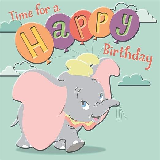 Disney Tarjeta del Feliz cumpleaños del Sello Dumbo: Amazon ...