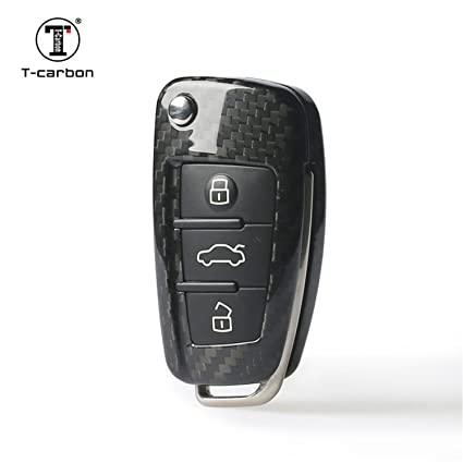 13a0d79dd2d994 Carbon Fiber Key Fob Cover for Audi Key Fob Remote Key, Fits Audi A1 Audi