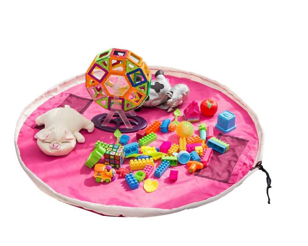 LINAG Spielzeug Aufbewahrungstasche Baby Kinder Teppich Spielzeug Organizer Tragbar Faltbar Reinigen Portable Tidy Tasche Lagerung Spielmatte Haushalt Quick Sortieren Oxford-Tuch 1