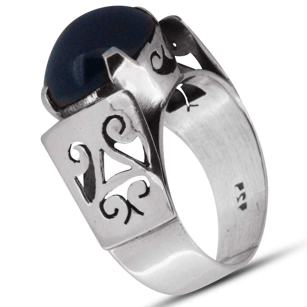 M/s Gajraj Garnet Stone 925 Sterling Silver Ring, US-8