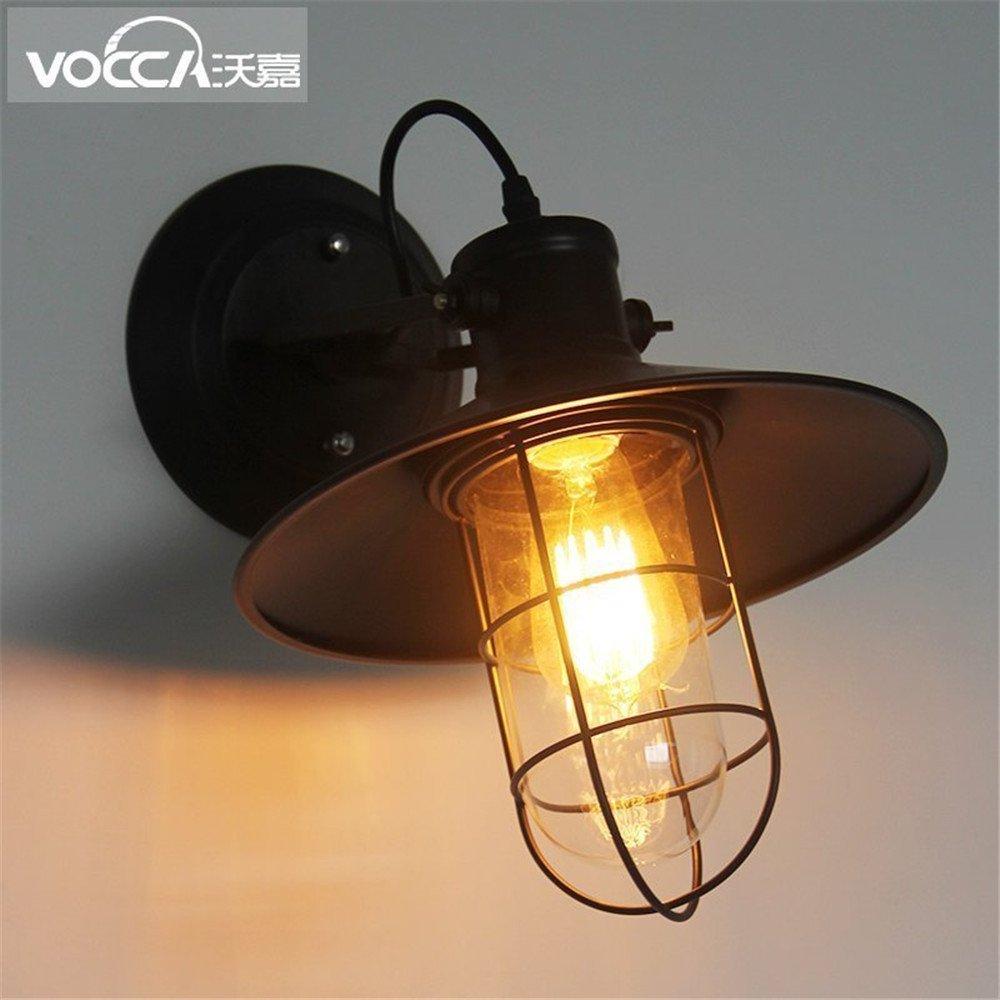 Anbiratlesn Modern E27 Vintage Rustikal Wandlampe für Schlafzimmer Wohnzimmer Korridor Badezimmer Küche Loft Industrial Vintage Schmiedeeisen Vogelkäfig