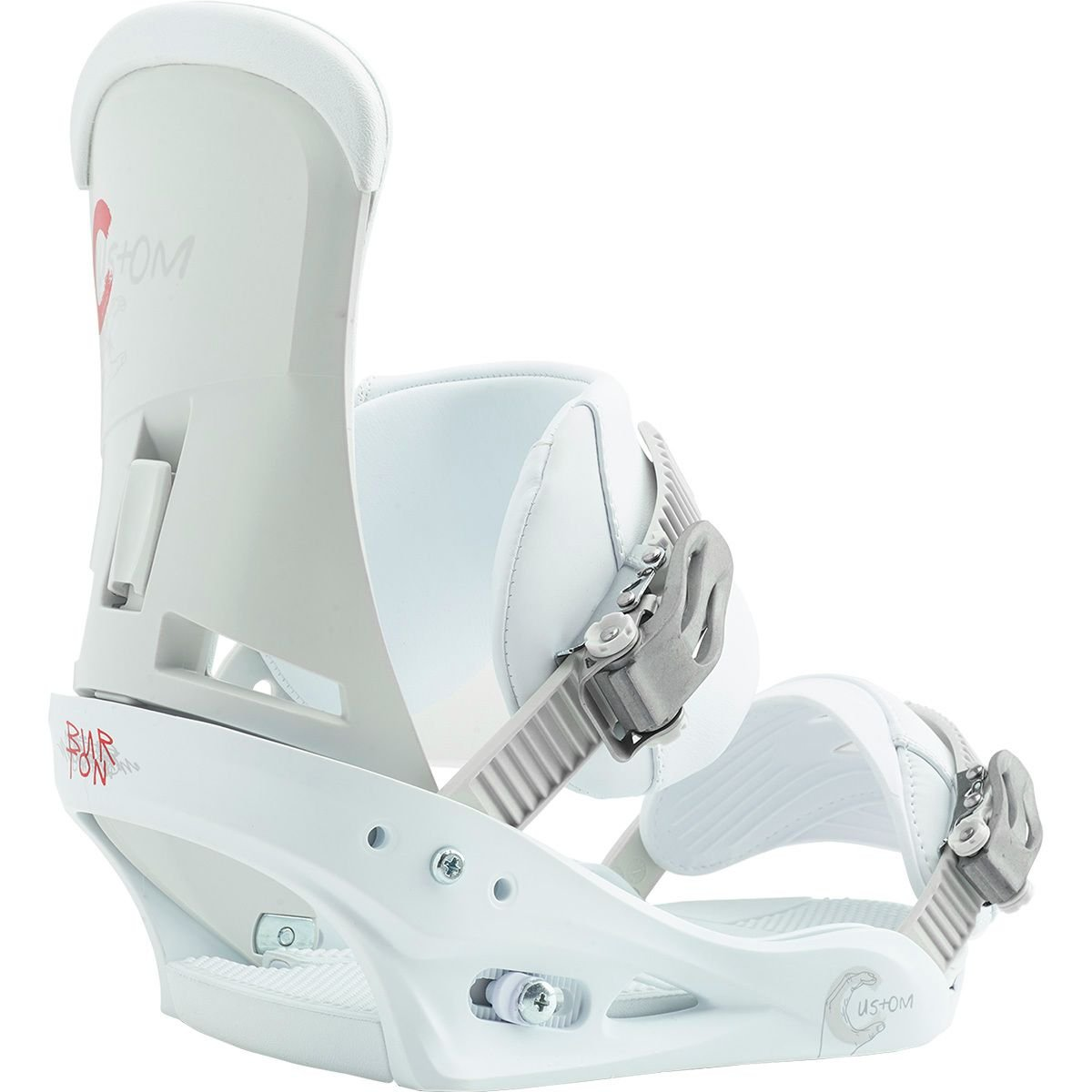 Burton Custom Snowboard Bindings White Sz M (8-11)