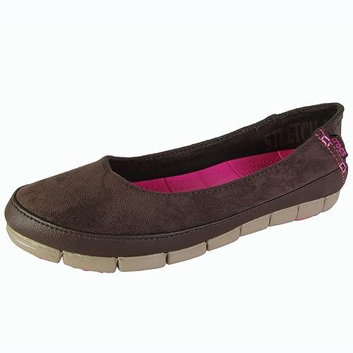 crocs - Mocasines de Sintético para Mujer Marrón Mahogany/Khaki 34/35 EU: Amazon.es: Zapatos y complementos