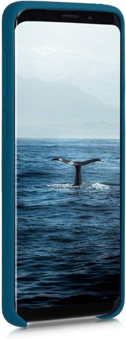 Carcasa de TPU para m/óvil Cover Trasero en marr/ón Rojizo kwmobile Funda Compatible con Samsung Galaxy S9