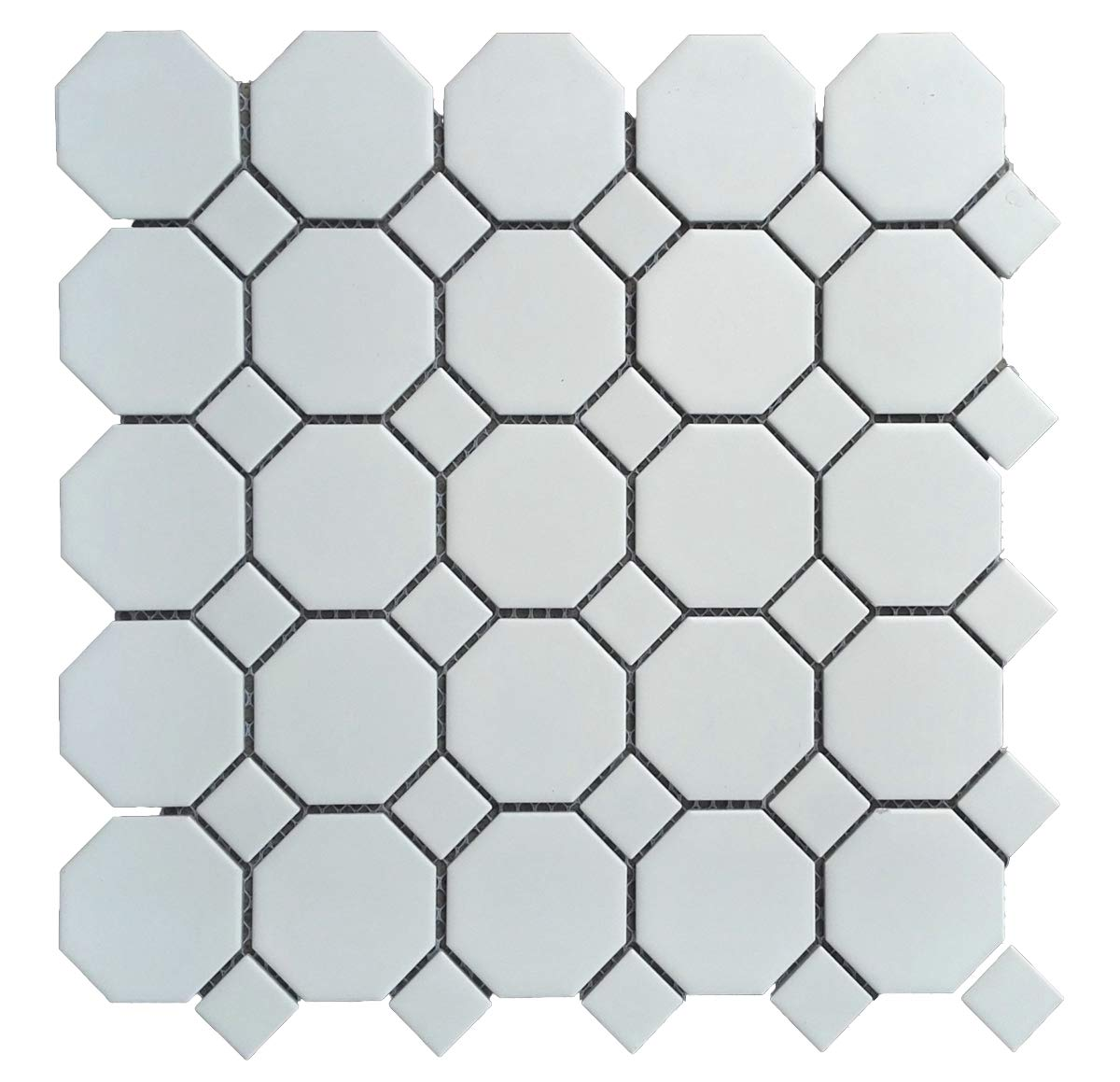 1 Carton/10 SQFT | White 2'' Octagon Mosaic Tile (Matte)