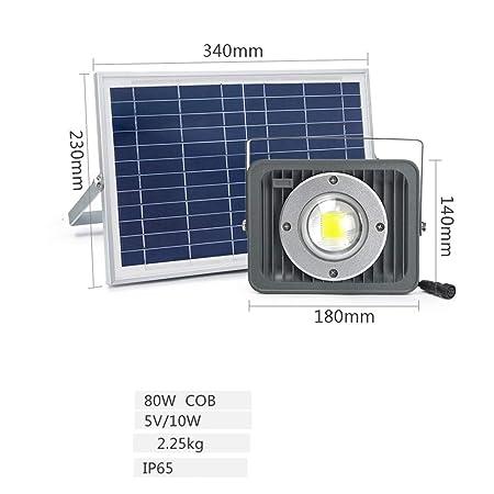 80W LED Solar Luz De Inundación Exterior,Solar Foco Proyector ...