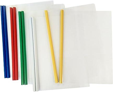 10PC A4 Display Folder Slide Bar Clip Document Presentation Project Binder Files