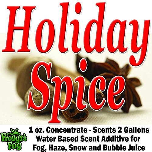 1 oz. HOLIDAY SPICE Water Based Scent Additive for Fog, Haze, Snow & Bubble Juice - Scents 2 Gallons