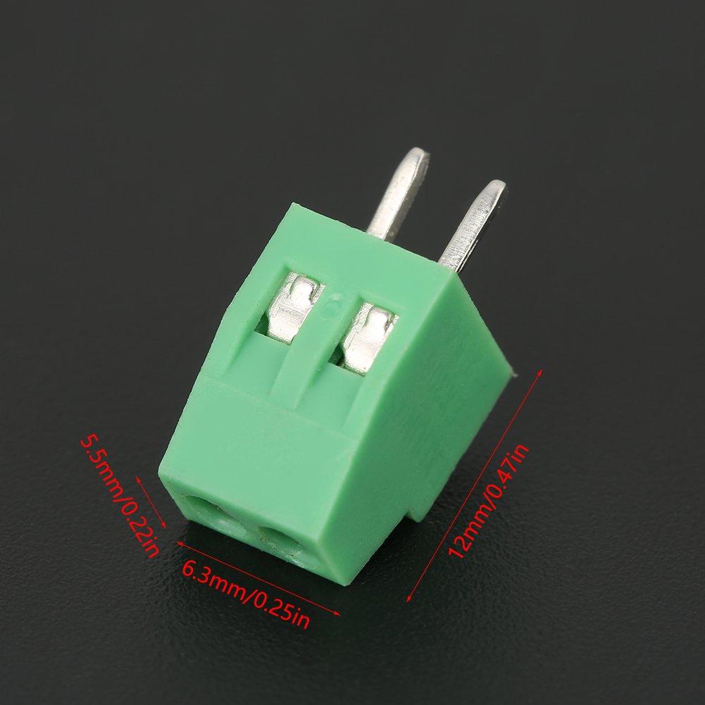 Set 2 Pin Connettore A Morsetto A Vite Con Attacco Pcb Passo 2.54Mm 50Pcs Connettore Morsettiera