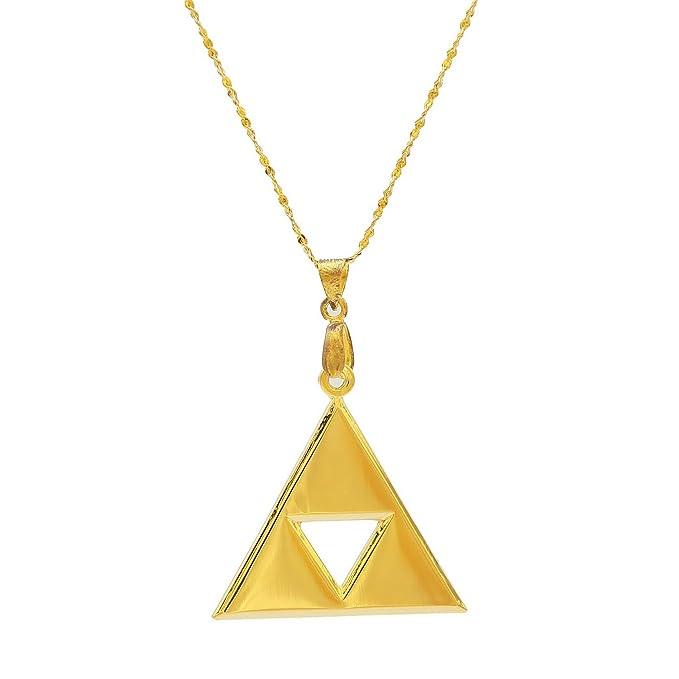 Xcoser Zelda Triforce Shield Symbol 24K Gold Plated Necklace Keychain 2015