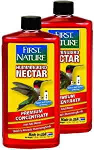 2-Pack First Nature 3050 Red Hummingbird Nectar, 16-ounce Concentrate