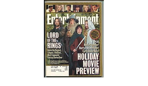 Entertainment Weekly-Viggo Mortensen-Ian McKellan-Elijah Wood-Cate Blanchett-11/16/2001 at Amazons Entertainment Collectibles Store