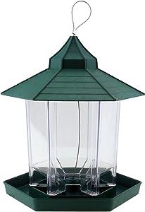 Ogrmar Hanging Gazebo Wild Bird Feeder -Perfect for Garden Decoration and Bird Watching for Bird Lover and Kids (Green)