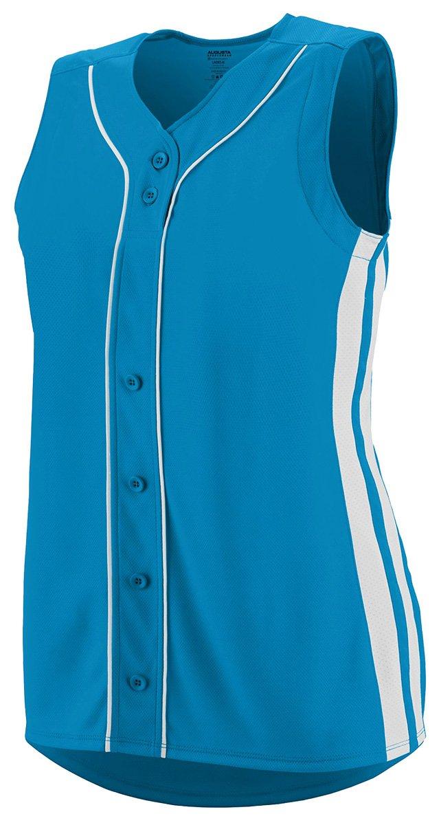 Augusta SportswearレディースWinnerノースリーブSoftball Jersey B01C5G8J4APower Blue/White Large