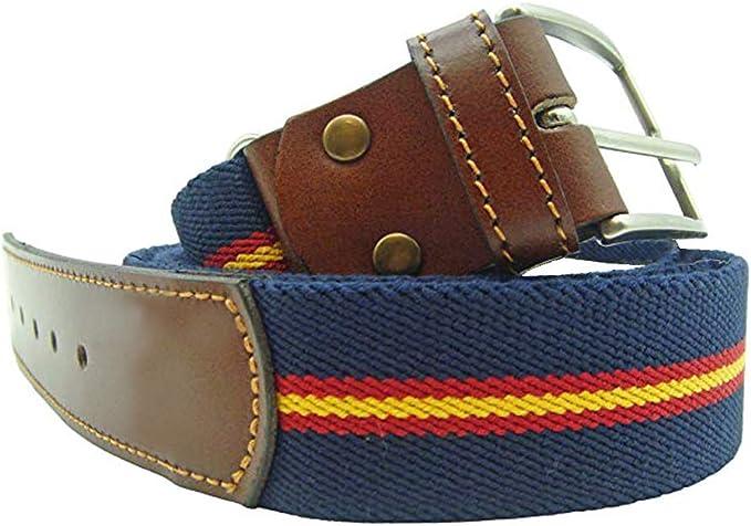 LGP – Cinturon Bandera de España de Lona elastica color Azul y ...