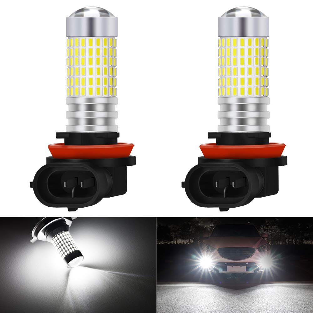Pack of 2 KaTur 7443 7444NA 7440 7440NA 992 LED Bulb High Power 3014 Chips Extremely Bright 3000 Lumens 6500K Xenon White Replace for Back up Reverse Brake Tail Turn Signal Lights,