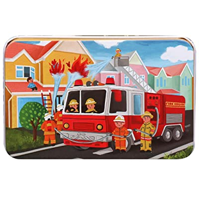 60 Pieces Firemen Jigsaw Puzzles for Adults Children's Puzzle Toy: Beauty