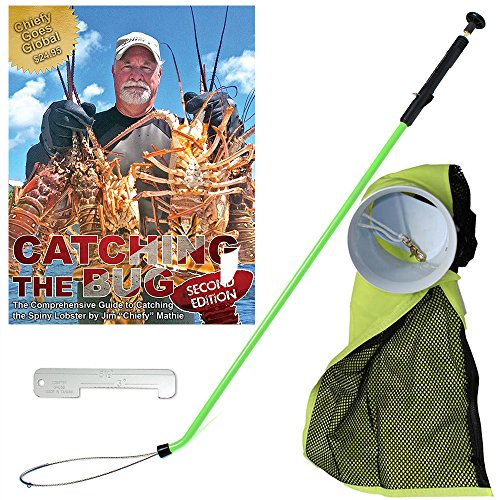 Dixie Divers Lobster PRO Package - Green Snare Aluminium Gauge Lobster INN Catch Bag - Free CATCHING The Bug Second Edition Book($24.95) ()