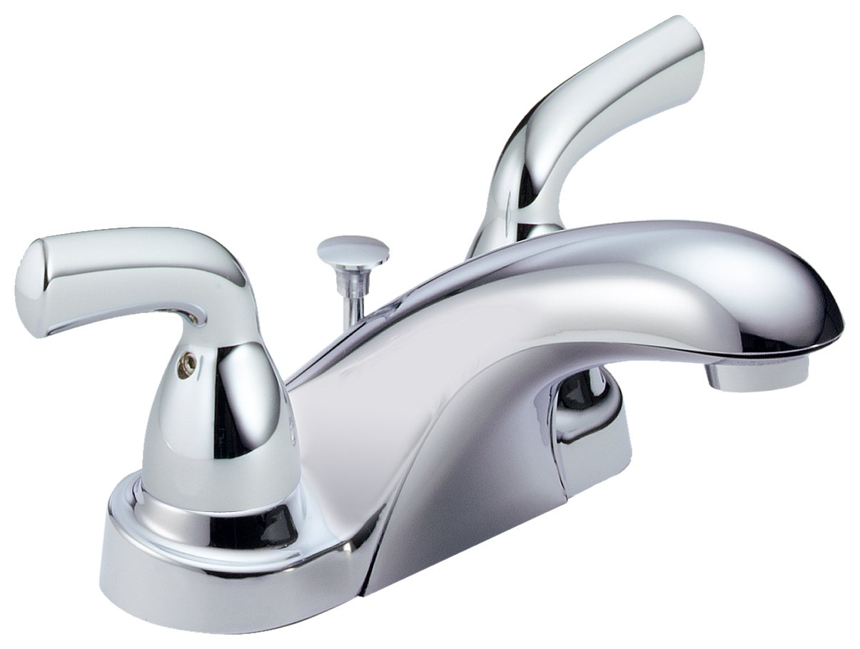 Great Delta Foundations B2510LF Two Handle Centerset Bathroom Faucet, Chrome    Touch On Bathroom Sink Faucets   Amazon.com