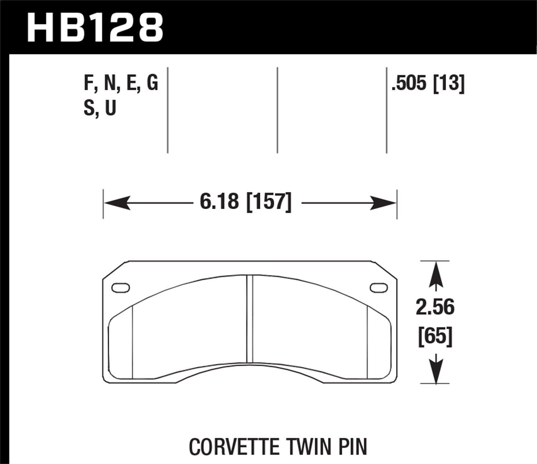 Hawk Performance HB128U.505 Disc Brake Pad