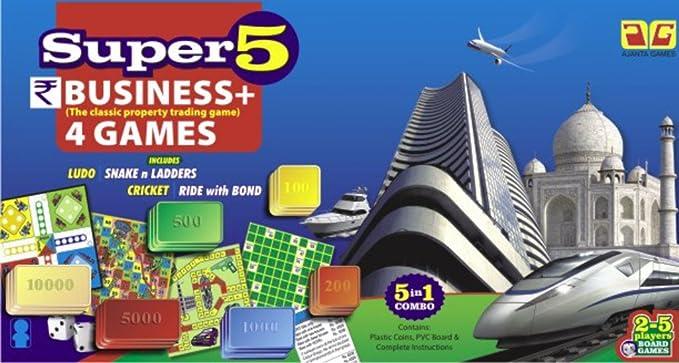 Ajanta Super 5 Business Game (Multicolour)