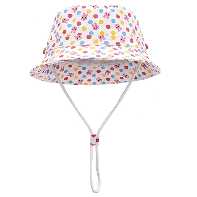 29026d30c59 Image Unavailable. Image not available for. Color  Toddler Kids Summer Sun  Hat Boys Girls Reversible Cotton Bucket ...
