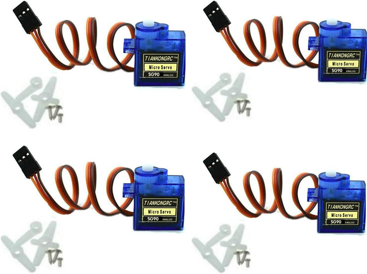 4 Motores Micro Servos Sg90 9g (para Helicoptero, Barco, Etc